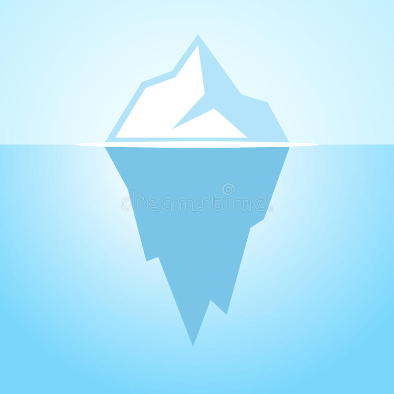 Iceberg vector icon. Ice berg vector icon illustration stock illustration