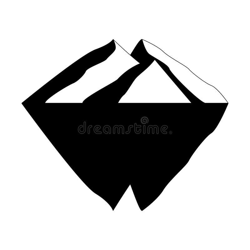 Iceberg vector icon isolated on white background. Ice berg vector icon. Iceberg vector eps clip art.  stock illustration