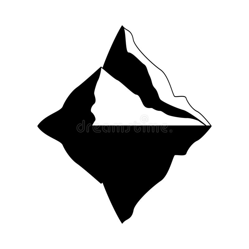 Iceberg vector icon isolated on white background. Ice berg vector icon. Iceberg vector eps clip art.  royalty free illustration