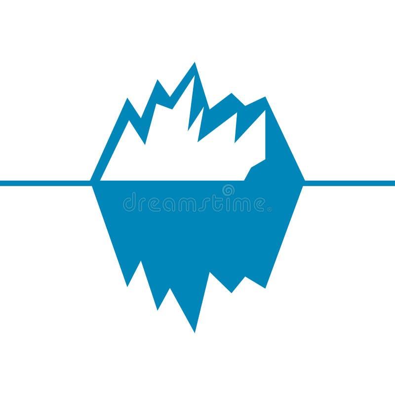 Iceberg vector icon isolated on white background. Ice berg vector icon.  royalty free illustration