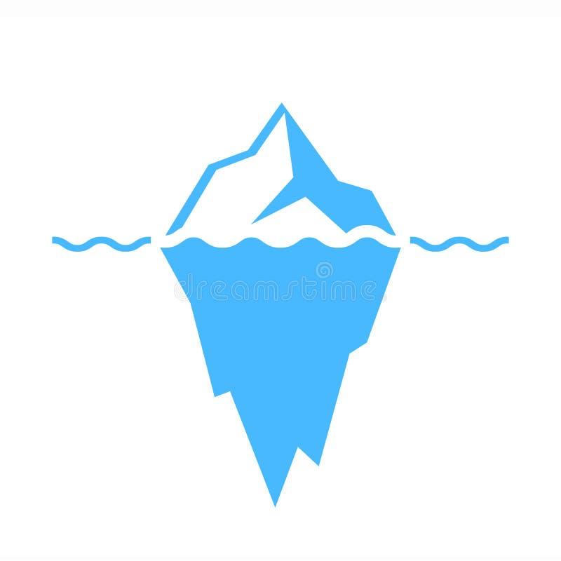 Iceberg vector icon. On white background royalty free illustration