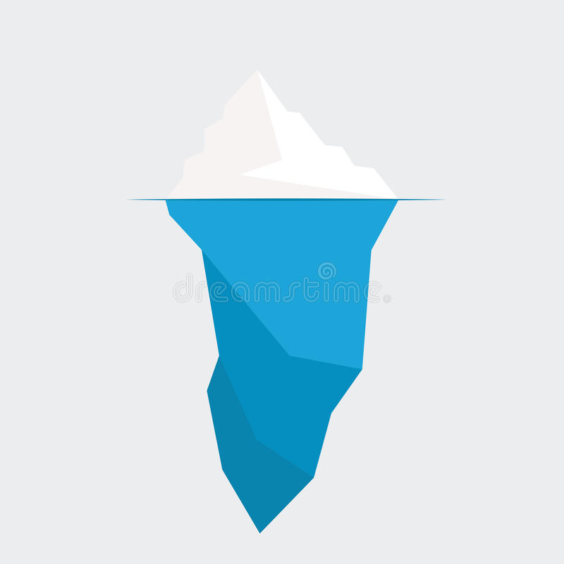 Iceberg vector illustration. Iceberg diagram vector illustration. ice berg icon vector illustration