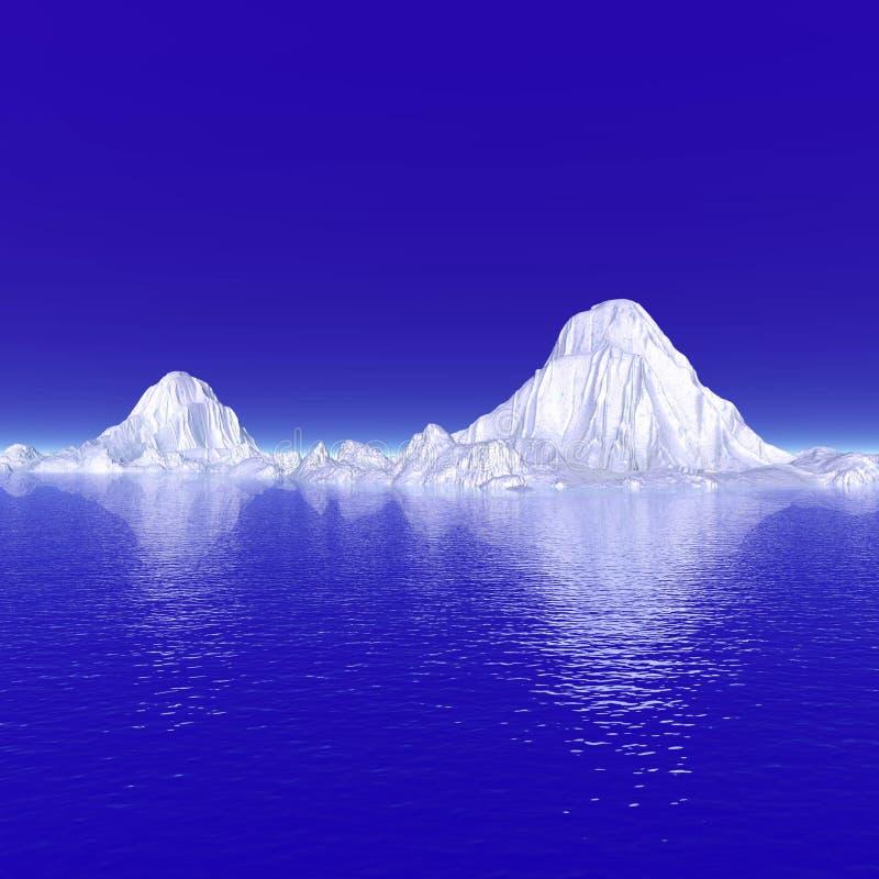 Icebergs ilustración del vector
