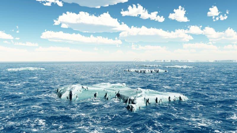 icebergs ilustração stock
