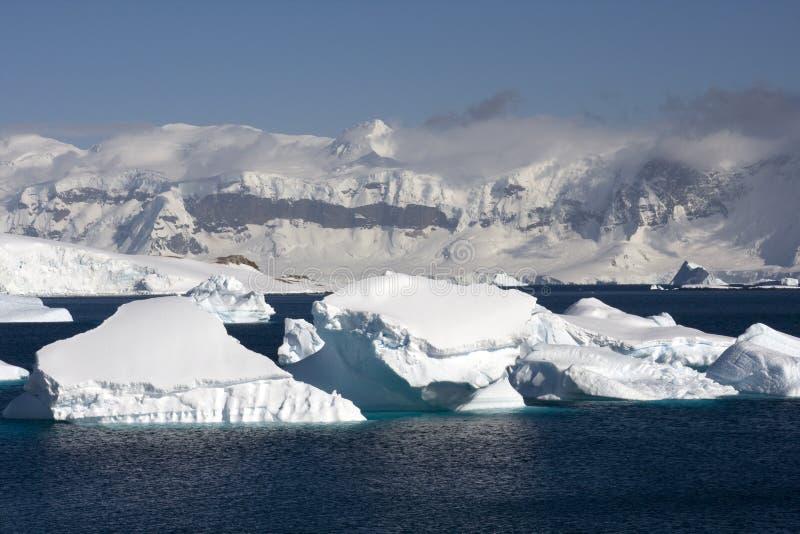 Icebergs in Antarctica stock photography