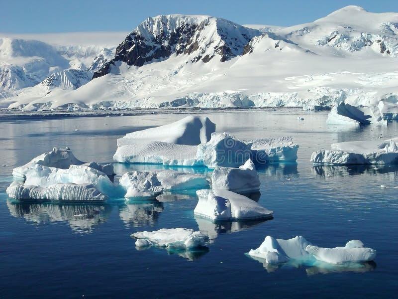 Icebergs, Antarctique image libre de droits