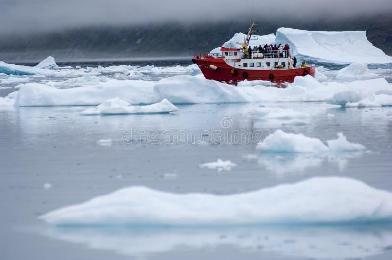 Icebergs bleus au Groenland photo stock