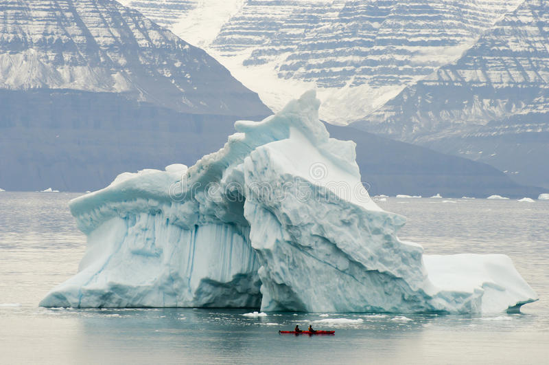 Icebergs - bruit de Scoresby - le Groenland images libres de droits