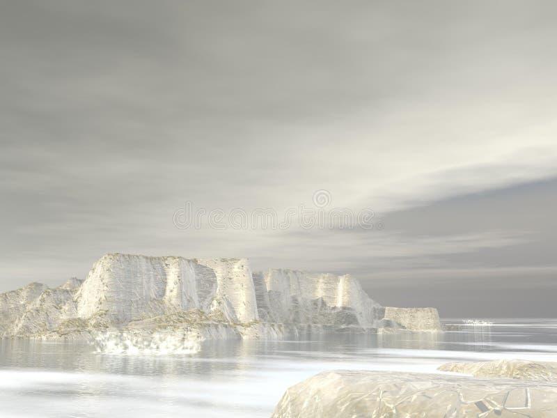Icebergs - 3D rinden ilustración del vector
