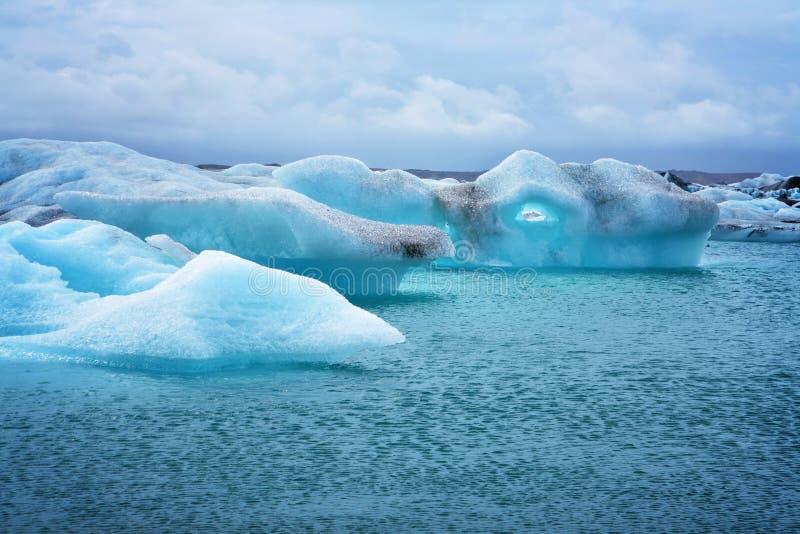 Icebergs de Jökulsárlón fotos de archivo libres de regalías
