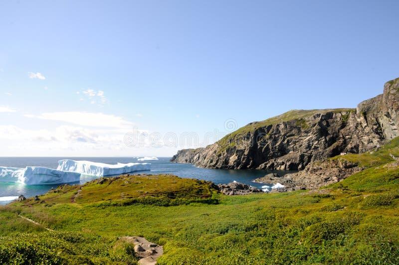 Icebergs de hielo en StAnthony, NL imágenes de archivo libres de regalías