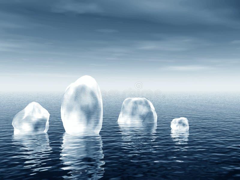 Icebergs en el mar libre illustration