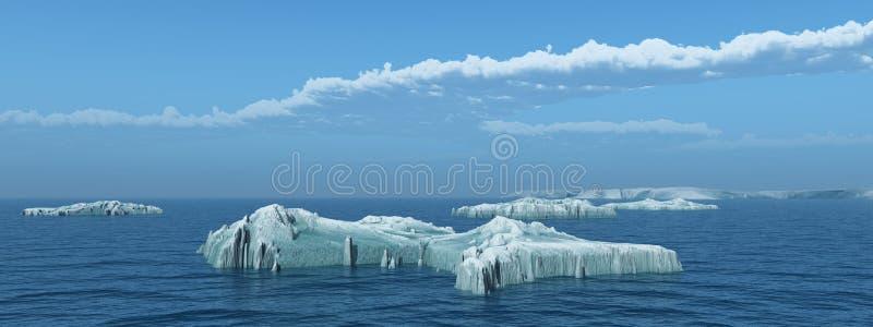 Icebergs en el mar abierto libre illustration