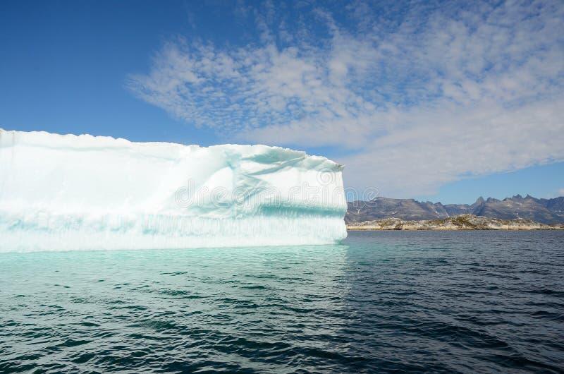 Icebergs floating in the Atlantic Ocean, Greenland stock image