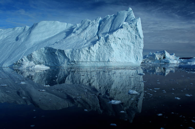 Icebergs in Greenland 4. Drifting icebergs in the bay of Ilulissat, Greenland stock photography