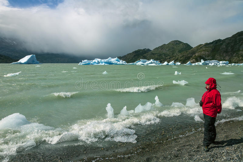 Icebergs in Grey Lake - Patagonia - Chile stock photos