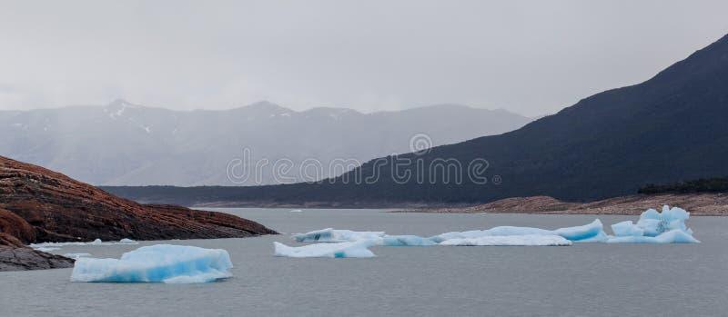 Icebergs la Argentina de Perito Moreno imagen de archivo