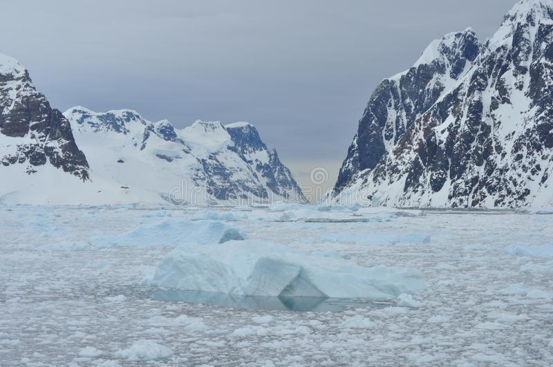 Icebergs and Mountains royalty free stock images