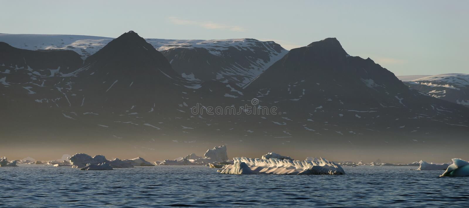 icebergs Nature et paysages du Groenland occidental images stock