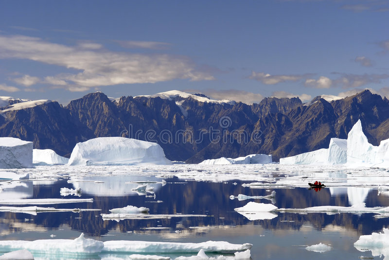 Icebergs - Northeast Greenland royalty free stock photo