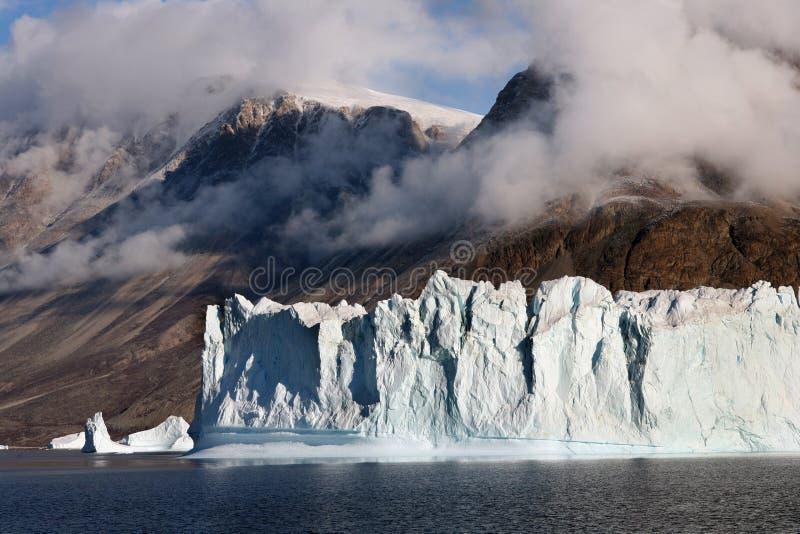 Icebergs - Scoresbysund - Greenland stock photo