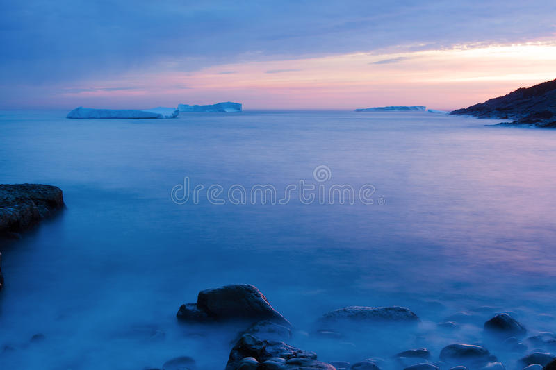 Icebergs At Sunrise Royalty Free Stock Photography