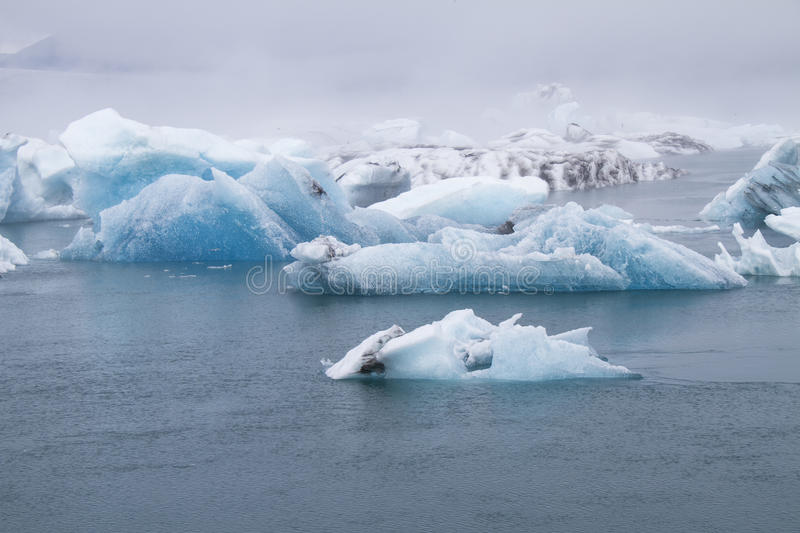 Icebergs. In Vatnajökull. These  have broken off Vatnajökull's outlet glaciers royalty free stock images