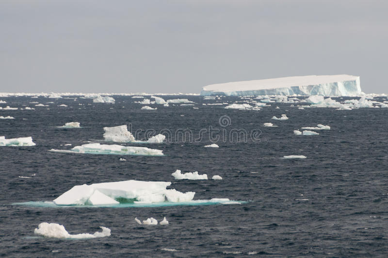 Icebergs in the Weddell Sea stock photos