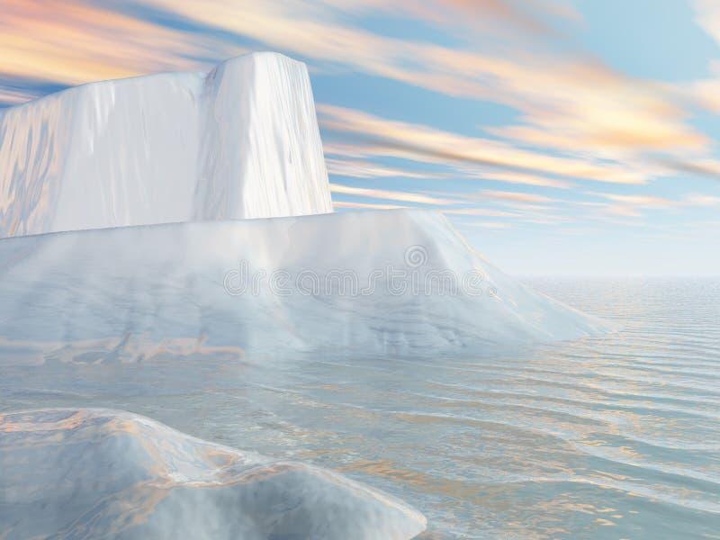 Icebergs y cielo del Aqua libre illustration