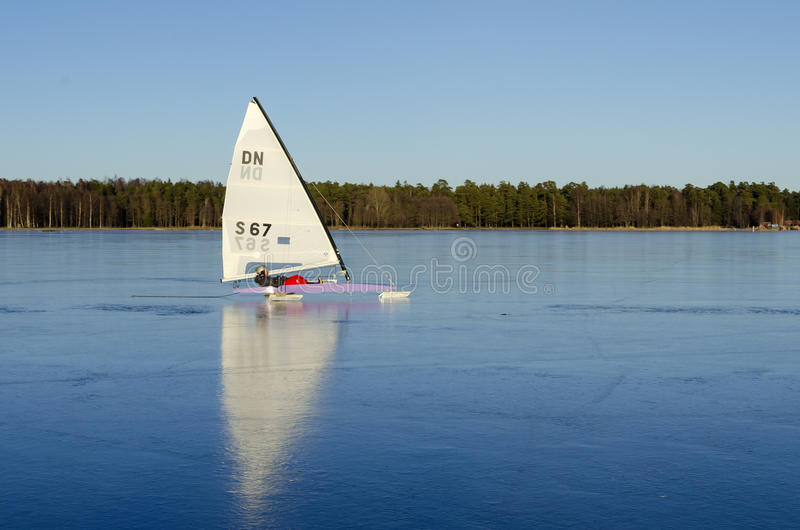 Download Iceboat On Perfect Black Ice Editorial Stock Image - Image: 29677329