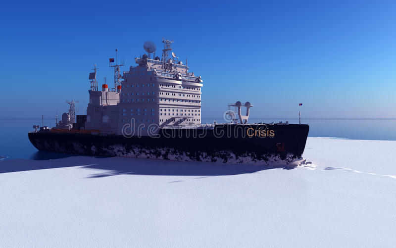 icebreaker ilustracja wektor