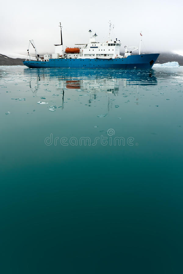 Free Icebreaker In Icy Water Royalty Free Stock Images - 12503739