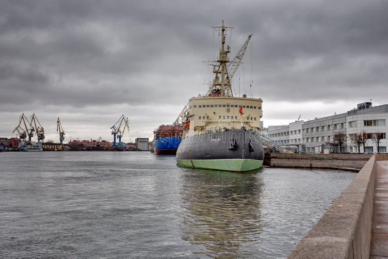The icebreaker Krasin royalty free stock photography
