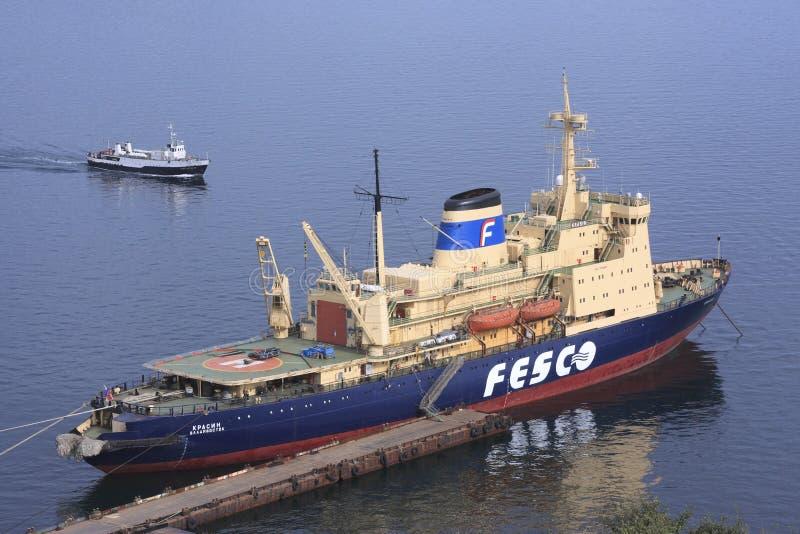 Icebreaker Krasin, Vladivostok stock photography