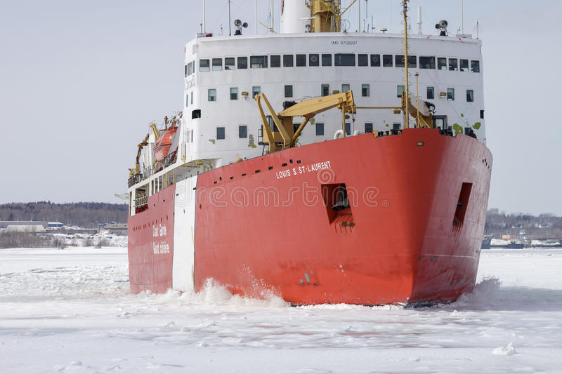 Icebreaker Louis St Laurent obrazy royalty free
