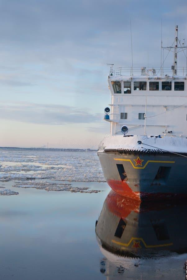 Icebreaker schip stock afbeeldingen