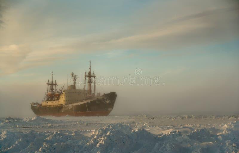 Cargo ship in the North Sea. royalty free stock photos