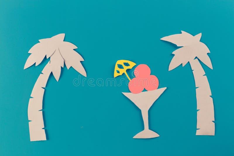 Icecream on the beach. Summer concept image stock photography