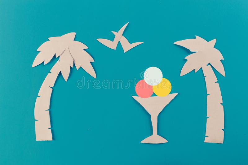 Icecream on the beach. Summer concept image stock image
