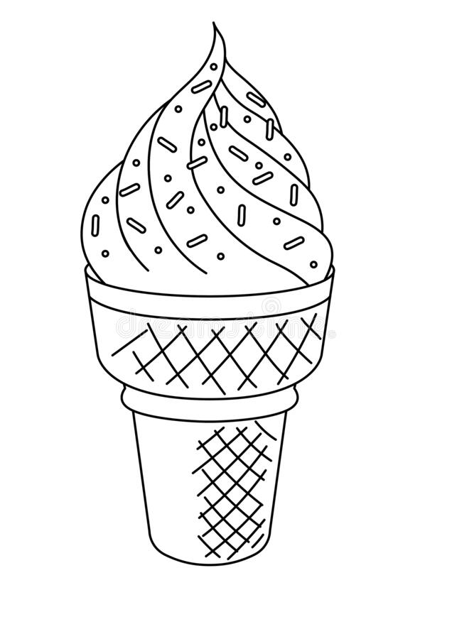 15+ Best New Coloring Ice Cream Drawing For Kids | 900x636