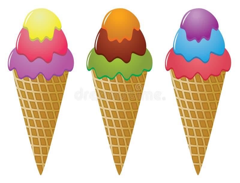 Download Icecream cones stock vector. Image of happy, milk, delicious - 12507900
