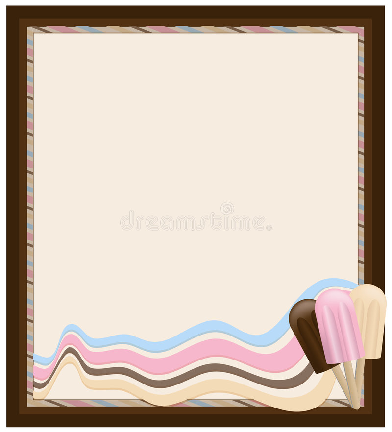 Icecream Frame Stock Images