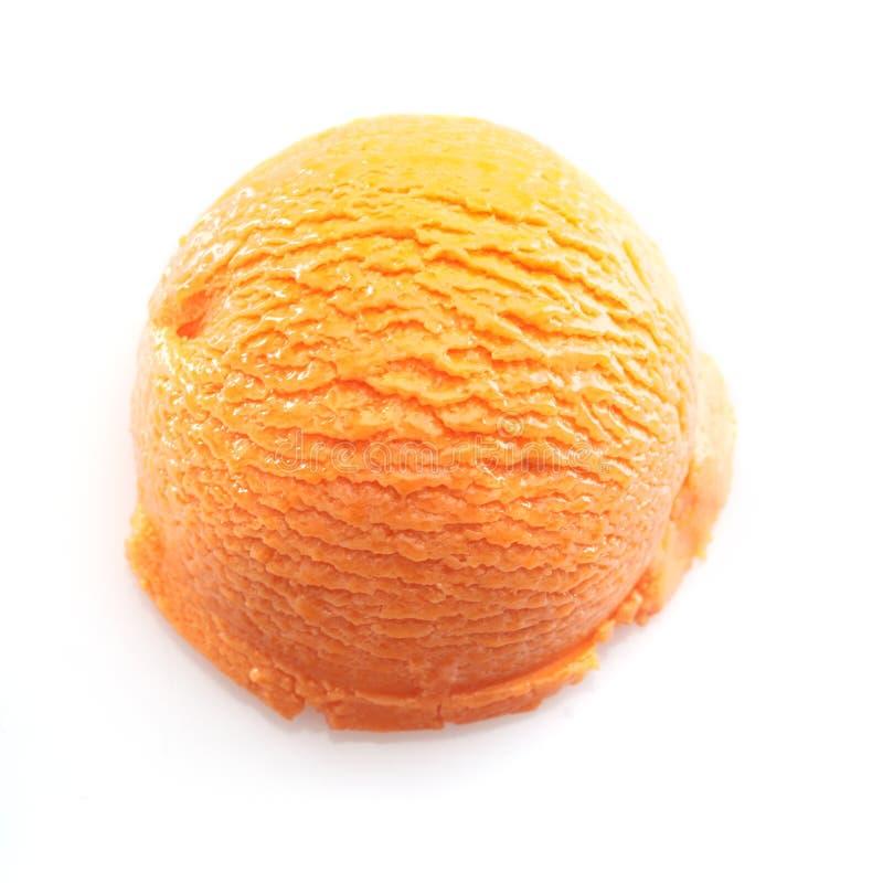 icecreamorangeskopa arkivfoto