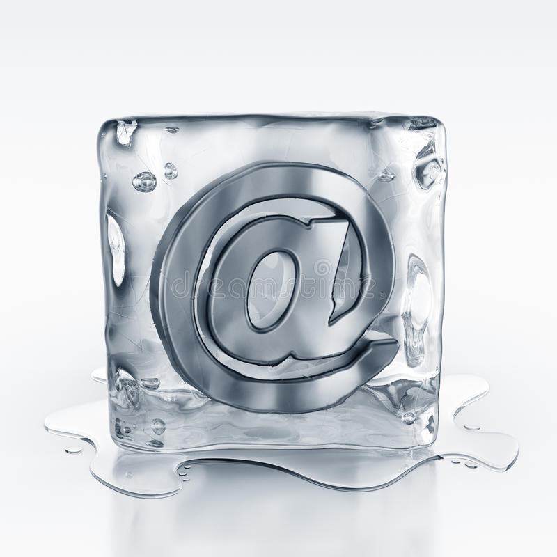 Download Icecube With Email Symbol Inside Stock Illustration - Image: 10751820
