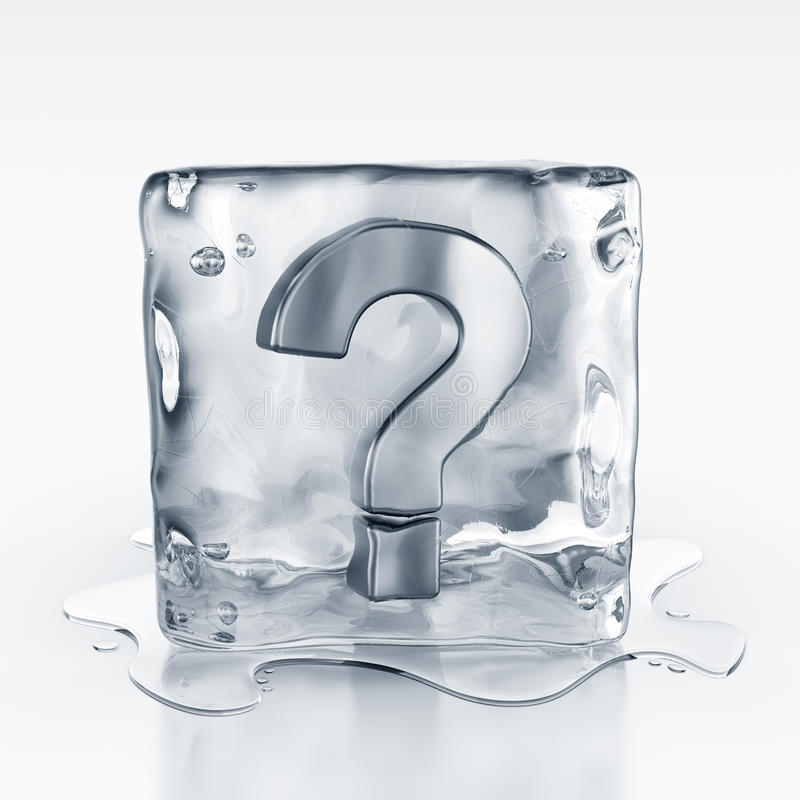 Download Icecube With Question Mark Symbol Inside Stock Illustration - Image: 10491710