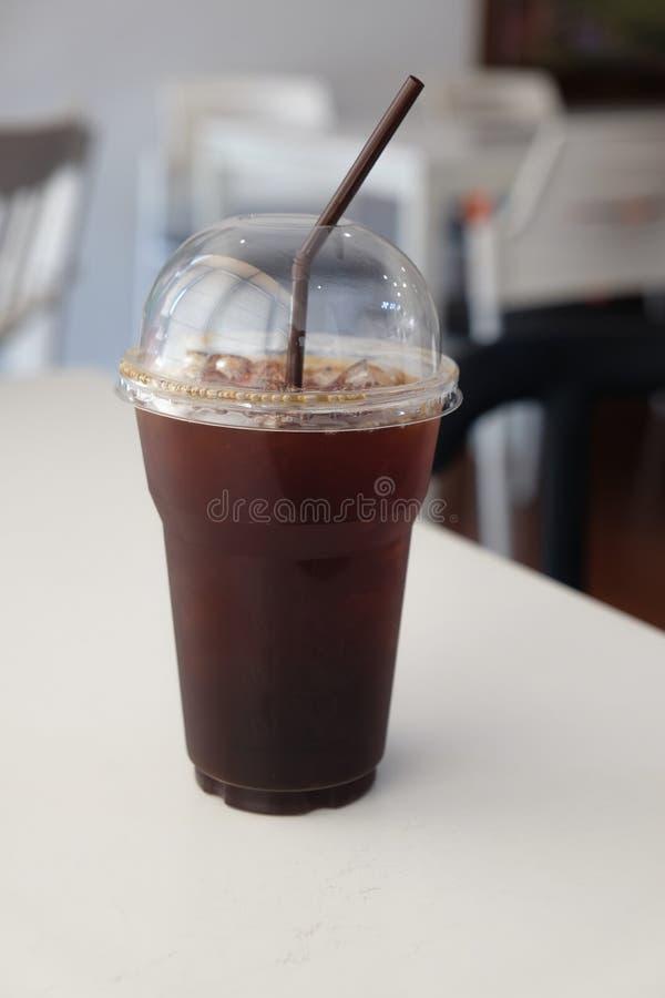 Iced Americano Black Coffee. Stock Image - Image of summer ...