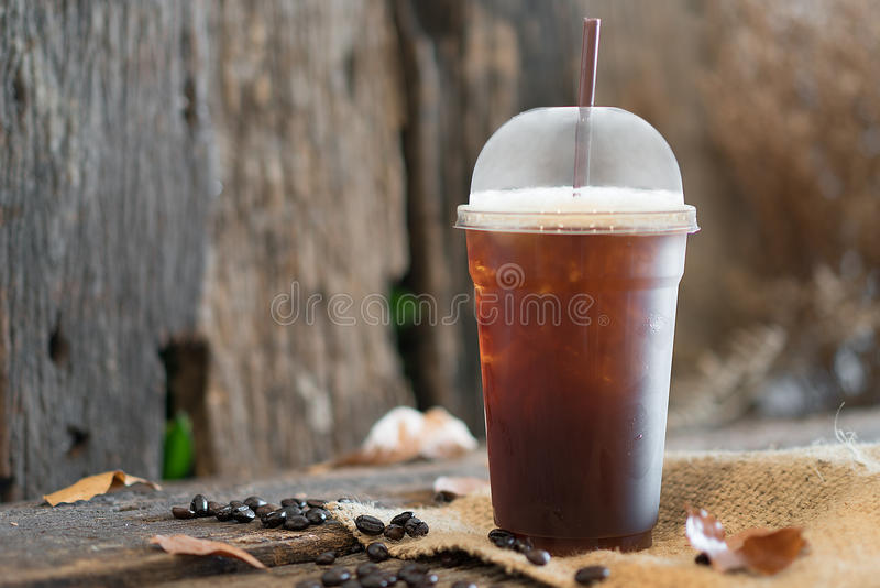 Iced Americano royalty free stock photo