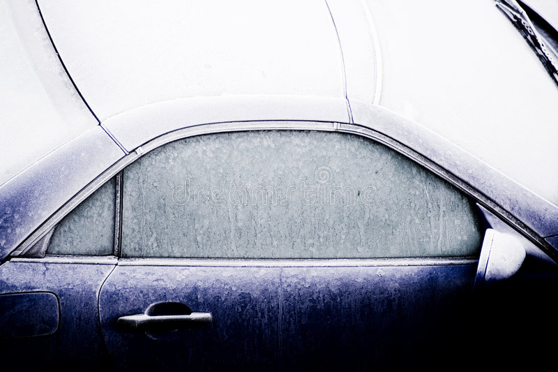 Iced automobile stock images