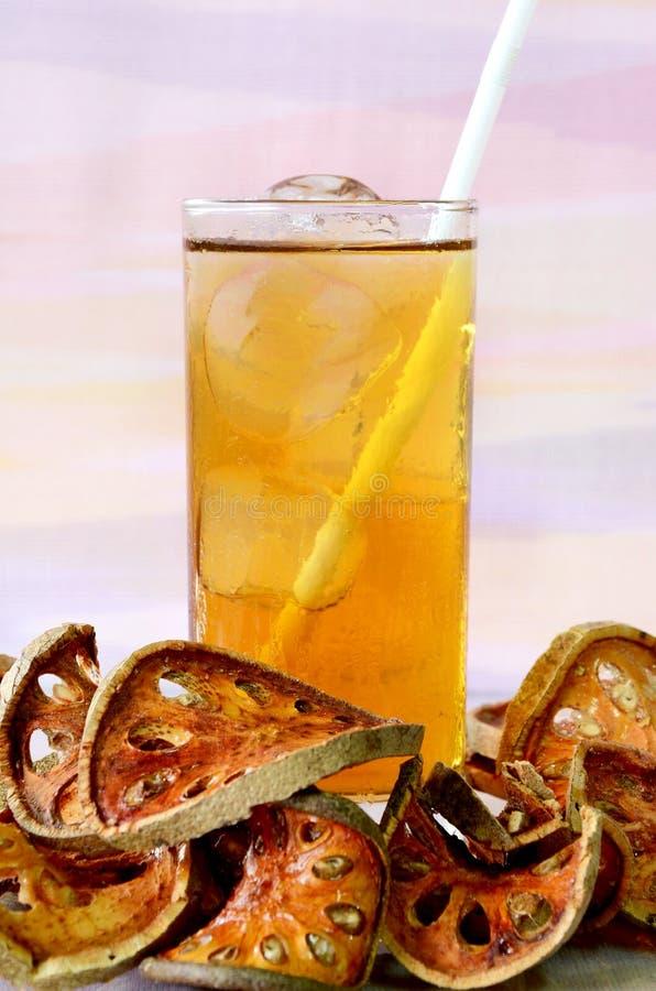 Iced Bael juice. stock photos