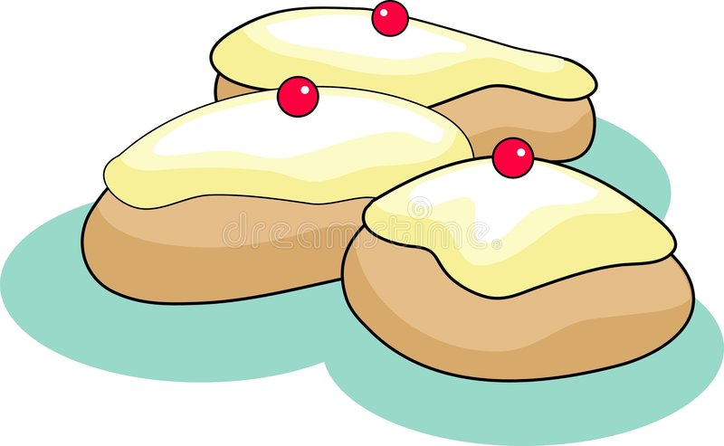 Iced Buns stock illustration